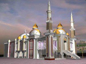 Masjid Almuttaqin Tampak samping